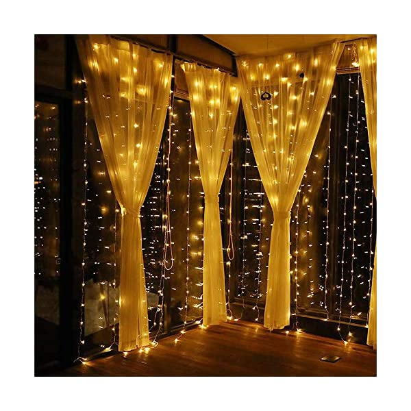 300 RGB USB Powered Waterproof Fairy Twinkle Lights for Wedding Party Garden Bedroom Outdoor Wall Decoration Curtain String Light LED Fairy Lights Curtain 16 Color 4 Modes Shows with Remote /& Timer