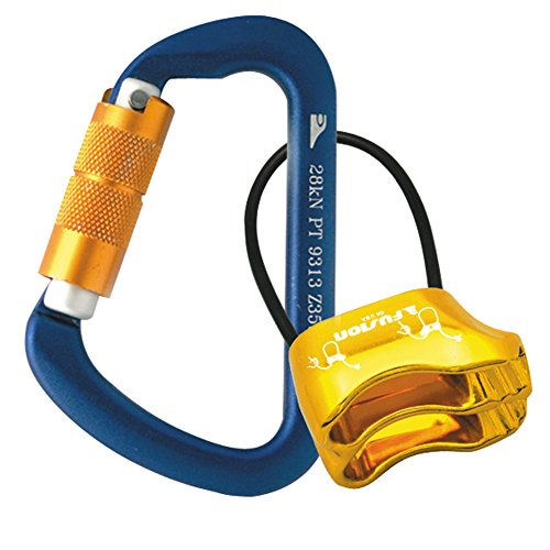 Fusion Climb Carabiner Belay Combo Pack Blue Gold (Fuse Belay Device)