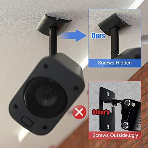 2 Pack Wall or Ceiling Mount for Logitech Z906 5.1 Surround Sound Speaker Syestem Tilt and Swivel Adjustable Mounting Bracket for Logitech Z906 Satellite Speakers