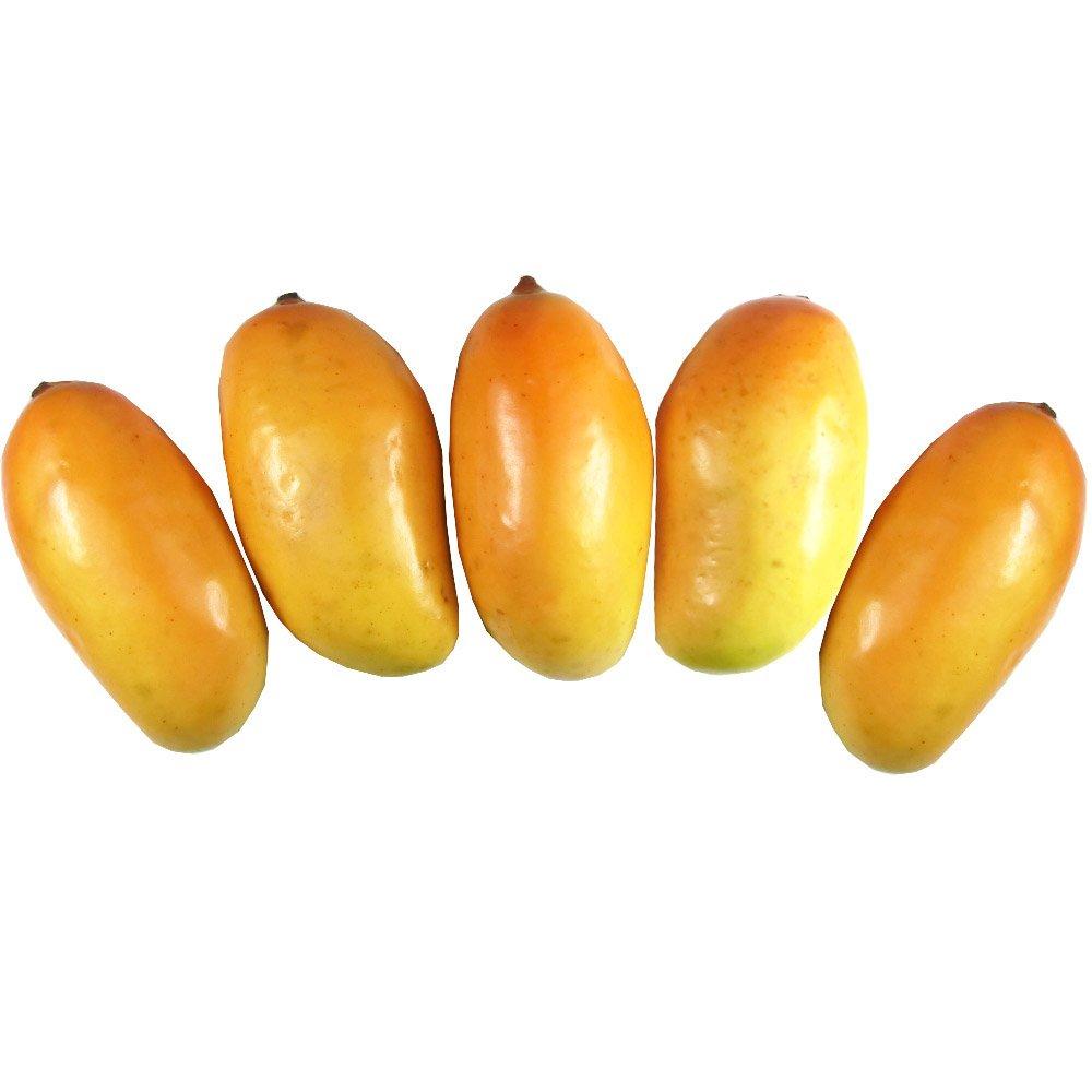 Orange Fruit Model GuCra Artificial Fruit Mango 5 pcs Pack