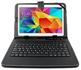 DURAGADGET GERMAN QWERTZ Durable Black Faux Leather Protective Case With Micro USB German Keyboard For NEW Samsung Galaxy S2 9.7' Tablet - Includes Built-In Stand & BONUS Matching Stylus Pen