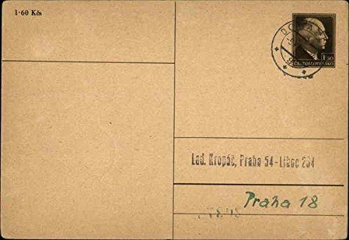 Pre-printed Blank Postal Card Postal Cards Czechoslovakia Original Vintage Postcard