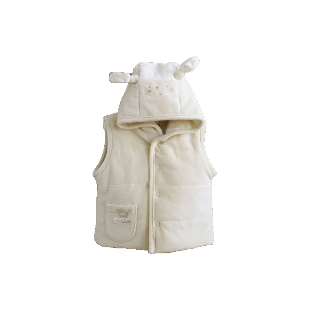 Natures Purest Cream Pure Love Girls Padded Gilet 0-3 Months