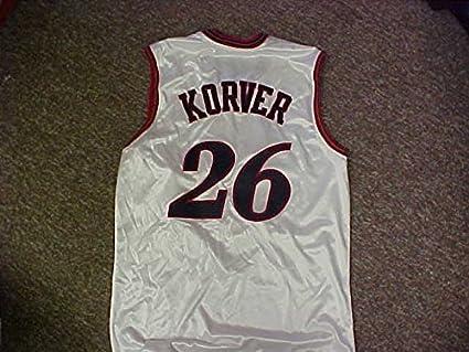 sneakers for cheap 89171 c3bce Kyle Korver Philadelphia 76ers White Home Game Jersey at ...