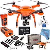 Autel Robotics X-Star Premium Quadcopter with 4K Camera and 3-Axis Gimbal (Orange) + Autel Robotics 4900 mAh LiPo Flight Battery (Orange) + 64GB SDXC + Deluxe Cleaning Kit + Fibercloth Bundle