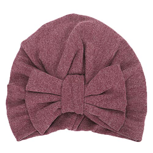 (Baby Winter Warm Hat, Fheaven Newborn Girls Boys Big Bowknot Sleep Cap Headwear Hat Cap (purple))