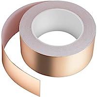 Vegena Tape Van Koperfolie, 30M x 50mm Kopertape Dubbel Geleidende Lijm EMI Afscherming Koperfolie Tape Zelfklevend…
