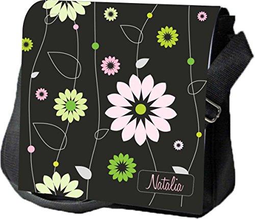Schultertasche Umhängetasche Handtasche personalisiertes Geschenk schwarz muster Ausgehtasche Partytasche