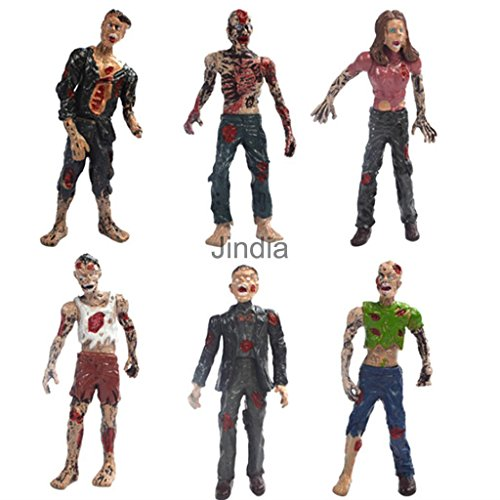 [6 Pcs Walking Corpses Doll Movie Characters Zombie Figures Children Toy Gift] (Robin Boy Wonder Costume Homemade)