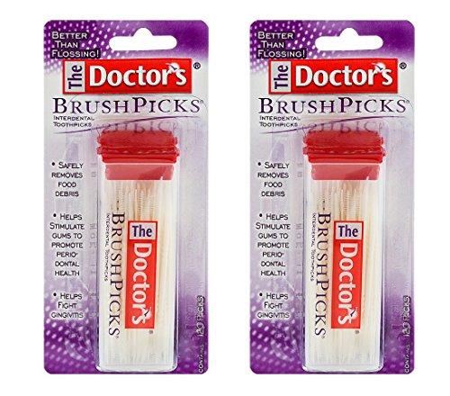 The Doctor's BrushPicks Interdental Toothpicks | 120-Picks per pack | (2-Pack)