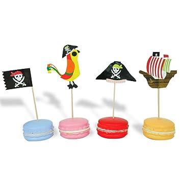 Yeahibaby Primeros de la Magdalena del Pastel del Tema del Pirata - Decoraciones de la Torta de cumpleaños, 40pcs
