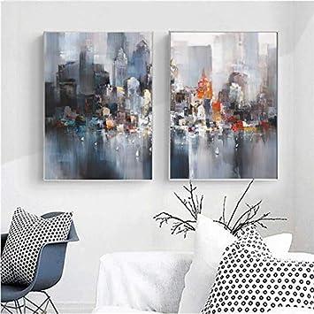 HGlSG (No Frame) 40x60cmPintura al óleo, Pintor Abstracto, Lienzo contemporáneo Moderno, Cuadros para la decoración del hogar, Dormitorio