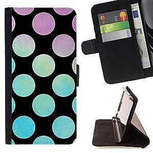 For Samsung Galaxy S6 Active G890A Case , Disco Party Salón Negro- la tarjeta de Crédito Slots PU Funda de cuero Monedero caso cubierta de piel