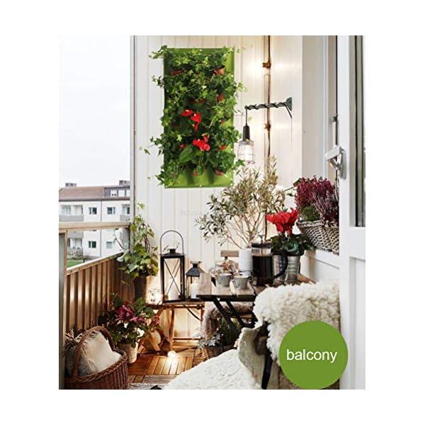 18tasche Borsa da coltivazione verde Appesa a parete Borse per piantare Fioriera Giardino verticale Orto da giardino… 6 spesavip