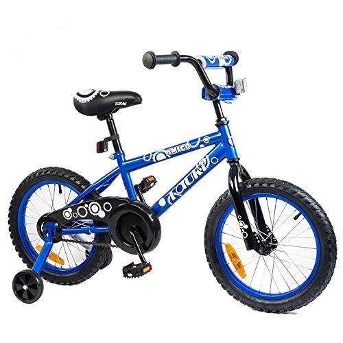 Tauki Kid Bike BMX Bike for Boys and Girls, 12 Inch, 16 Inch, 95% assembled, Gift for kids