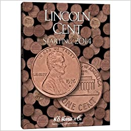 E 1941-1974 LINCOLN CENT COIN FOLDER  H HARRIS // WHITMAN BRAND NEW