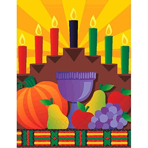 - amscan Kwanzaa Multicolored Octagonal Paper Table Covers, 8 Ct. | Party Tableware