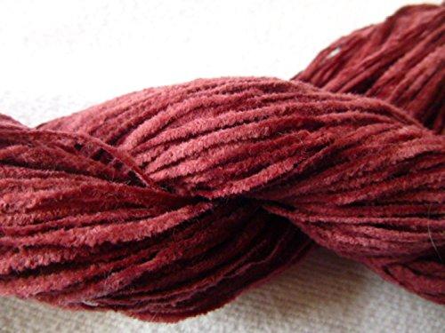 (Sports Weight Raspberry Red Cotton Chenille Yarn)
