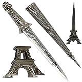 15.5'' Europe France Paris Metallic Eiffel Tower Dagger Knife Sword Letter Opener Desk Room Model