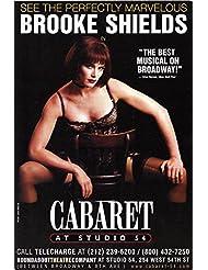"""Brooke Shields """"CABARET"""" at Studio 54 / Kander & Ebb 2001 Broadway Flyer"""