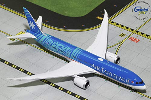 (GeminiJets GJTHT1782 Air Tahiti NUI B787-9 Dreamliner F-Onui 1: 400 Scale Diecast Model Airplane, Blue)