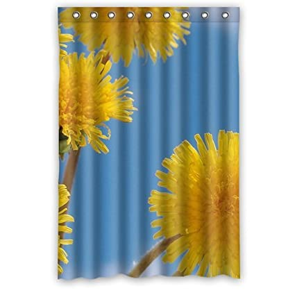 Rv Yellow Flower Floral Shower Curtain 48quot