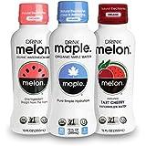 DRINKmelon Watermelon & Maple Water Sampler – Organic, Non-GMO, Gluten Free, Vegan Natural Hydration – Low Sugar Coconut Water Alternative (Maple-Original, Melon-Original, Melon-Tart Cherry)