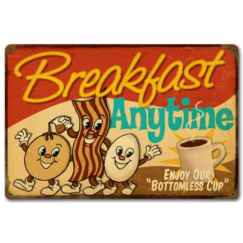 Retro Planet Breakfast Anytime Sign product image