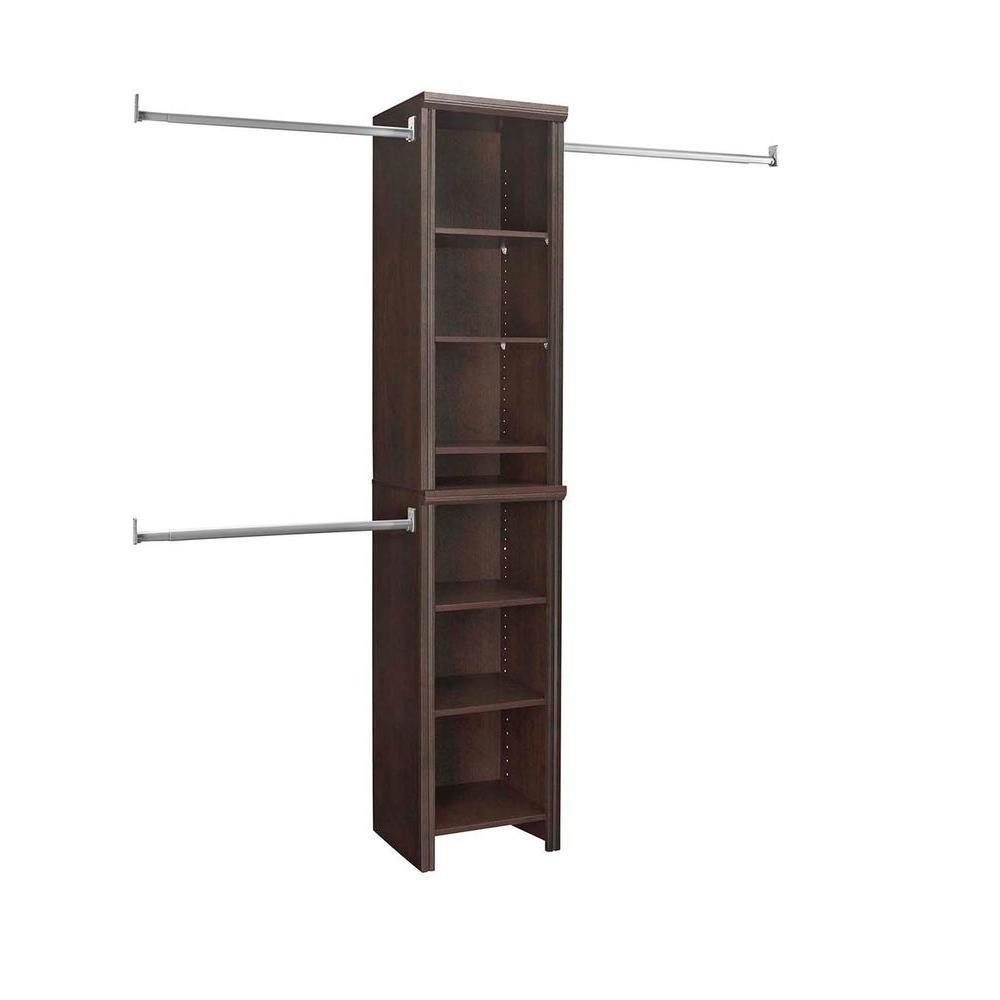 ClosetMaid Impressions Chocolate 16 in. Narrow Closet Kit