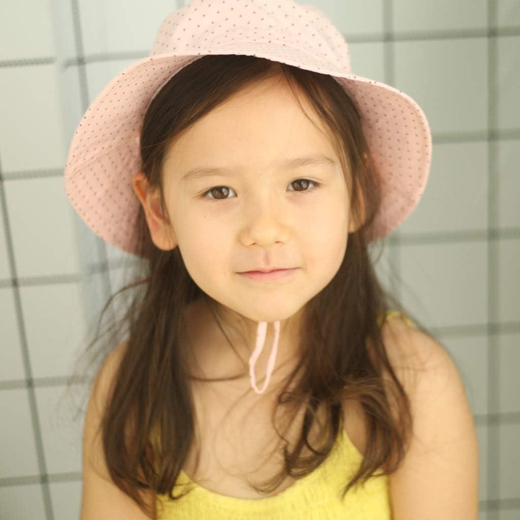 Ami/&Li tots Bucket Sun Hat Adjustable Sunscreen Protection Summer Hat for Baby Girl Boy Infant Kid Toddler Child UPF 50+
