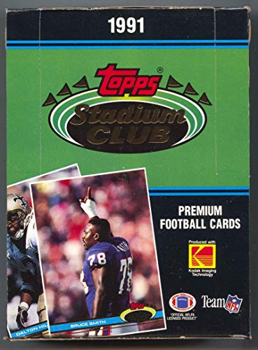 1991 Topps Stadium Club Football Box