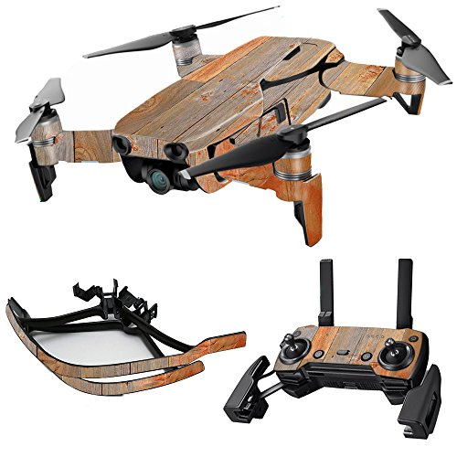 MightySkins Skin for DJI Max Coverage - Barnwood | Protective, Durable, and Unique Vinyl Decal wrap Cover | Easy to Apply, Remove, and Change Styles | Made in The USA
