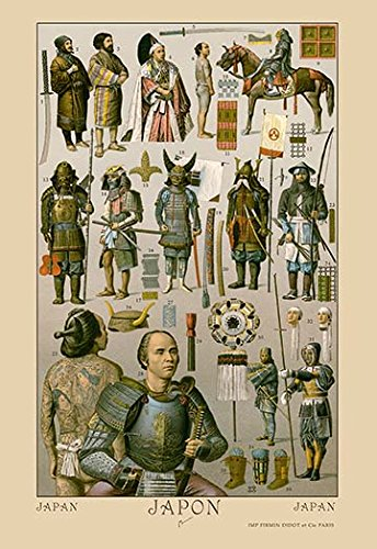Buyenlarge 0-587-11329-4-P1827 Japan-Ainos Military Costume Paper Poster, 18