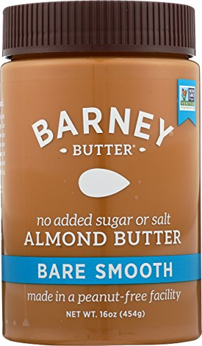 Barney Butter Bare Smooth Almond Butter, 16-Ounce Jars (Pack of 3)