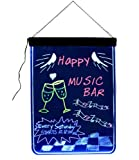LED Fluorescent Illuminated Writing Menu Signs Neon Eraser Board
