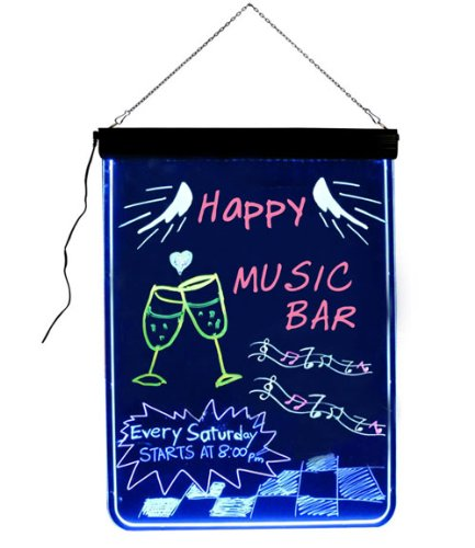 FlashingBoards LED Sign Chalkboard (BFBA3224) (Write Combination Board Lightweight)