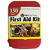 First Aid Kit - for Car, Auto, Home, Office, Boat, Backpack, Travel, Stroller, Camping, Hiking, Sports, any Emergency - 130 Pieces - Produced at an FDA Approved Facility by Higher Gear Products
