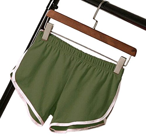 Casual Estivo Jogging Elasticizzati Yoga Cucitura Green Righe Spiaggia Bianco Donna Army Pantaloncini Corto Pantaloni Sportivi Shorts Fitness 0Orp0w4x
