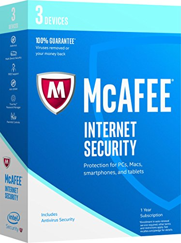 McAfee 2017 Internet Security-3 Devices [Key Code] (3-Users) Image