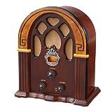 Crosley CR31-WA Companion Retro AM/FM Radio with Full-Range Speaker, Walnut & Burl