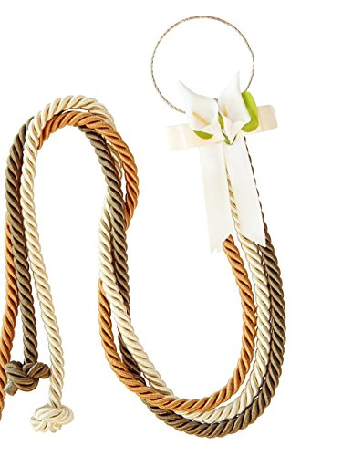 Unity Braids® Cord of Three Strands Calla Lilies Cords for Weddings ()