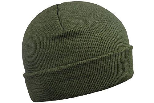 Dark Green Beanie Beanie Knit Cap Cycle Skull Cap Knit Simple Hat Army Green