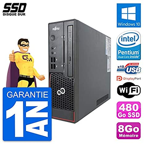 Fujitsu - Mini PC Esprimo C720 SFF Intel G3220 (8 GB, SSD 480 GB ...