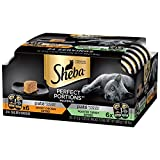 Sheba Perfect Portions Multipack Chicken Entree and Turkey Entree Wet Cat Food, 2.6 oz, 12 Twin Packs
