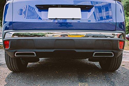 HIGH FLYING ABS cromato lucido posteriore tubo di scappamento punta fine modanature adesivi pezzi per 3008/2017/2018//5008/2017/per auto di PG3008GT