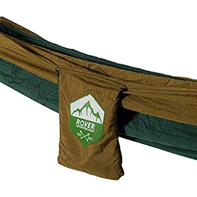 Camping Hammock - SoloRover Lightweight Portable Parachute Nylon by Rover Adventure Gear