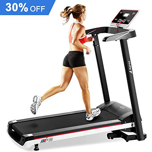 Aprox Electric Folding Treadmill, Motorized Running Jogging Machine Easy Assembly for Home Gym Exercise (2.5HP)