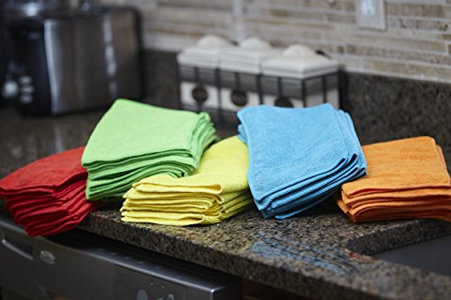 S & T Bulk Microfiber Kitchen, House, Car Cleaning Cloths - 50 Pack, 11.5'' x 11.5'' by S & T (Image #6)