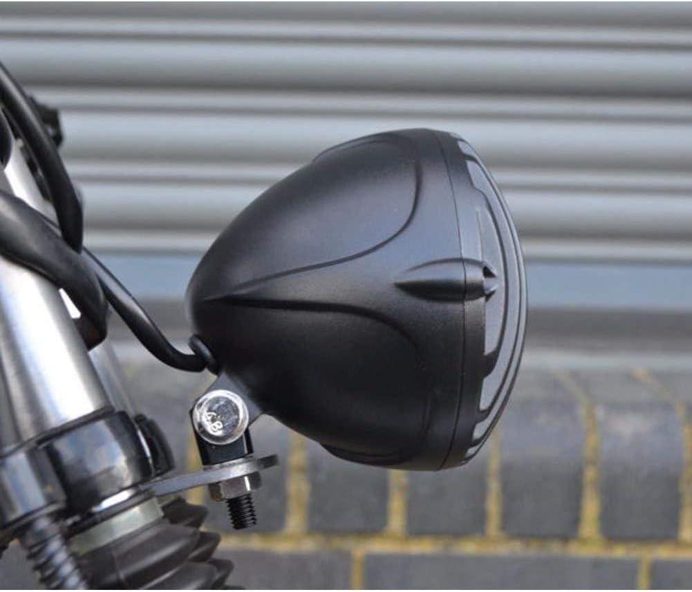 HANEU 6 1//5,1 cm Moto universel Phare r/étro Grille Unique rond 12 V 55 W Ampoule halog/ène pour Chopper Cafe Racer Bobber Custom Coque Noir