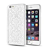 "TNP iPhone 6s / 6 Plus Case (Damask White) - Ultra Slim Fit Shockproof Rubberized Matte Hard Back Protective Hybrid Case Cover Skin for Apple iPhone 6s Plus and iPhone 6 Plus 5.5"" Devices"